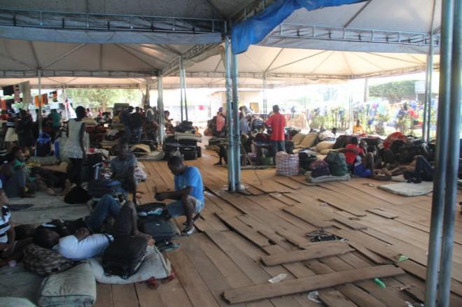 Condições do abrigo vem piorando a cada dia em Brasiléia - Foto: Alexandre Lima
