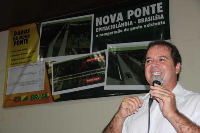 Sebastião Viana se esquivou em falar sobre o caso dos empresários na fronteira - Foto: arquivo