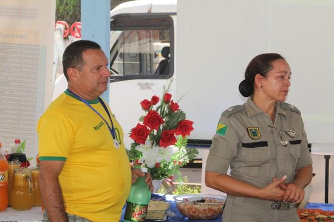 Entram para a reserva da Polícia Militar do Acre, os agora 2º Tenentes, Tânia Mª Filgueiras da Silva e Antonio Izel Mourão - Foto: Alexandre Lima