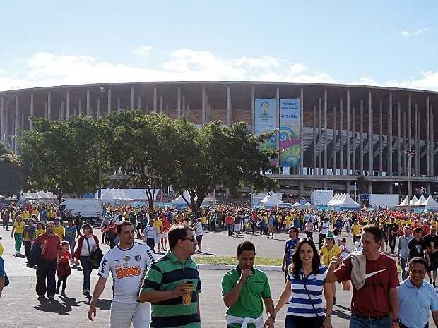 Jogo do Brasil acontece no Estádio Nacional Mané Garrincha, em Brasília (Foto: Ricardo Moreira/G1)