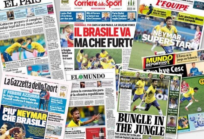 Neymar é destaque nos principais jornais esportivos pelo mundo nesta sexta-feira (Foto: Reprodução)