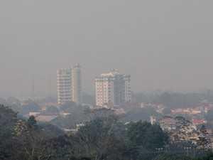 Rio Branco, capital do Acre, tomada por fumaça  (Foto: Gleilson Miranda/Governo do Acre)