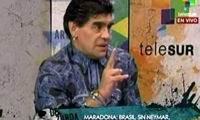 """Maradona comenta a derrota do Brasil: """"Sempre disse que não gostava da seleção brasileira, e que a Alemanha tinha mais time"""" - Reprodução"""