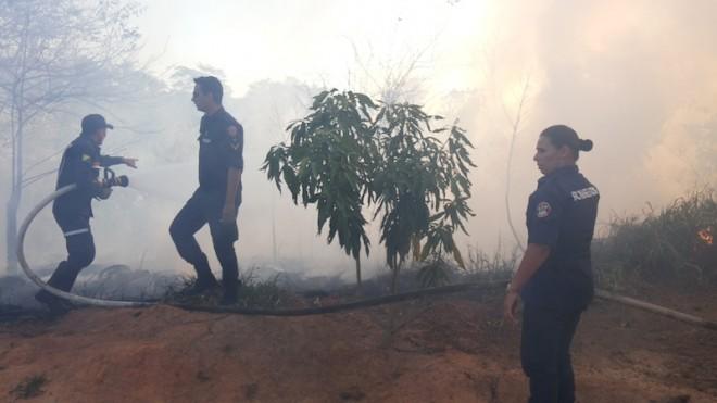 Trabalho dos Bombeiros foi importante para apagar as chamas e evitar tragédias - Foto; Alexandre Lima