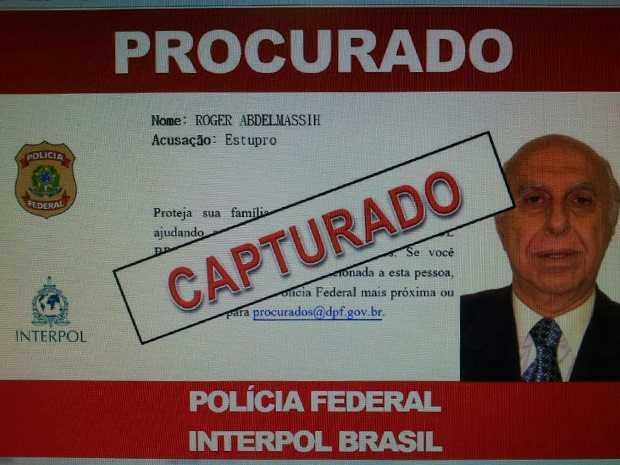 Tela mostra atualização do status do foragido na Interpol (Foto: Divulgação/Polícia Federal)