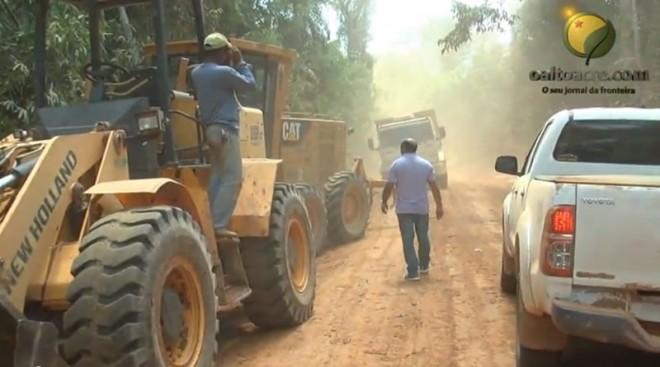 foram cerca de 30 quilômetros de ramal que forma melhorados após mais de uma década de abandono - Foto: Captura