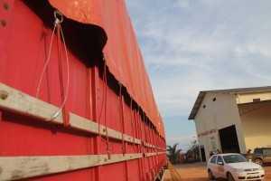 Toda a carga foi lacrada e o proprietário da carreta ficou como fiel depositário até o desenrolar do processo - Foto: Alexandre Lima