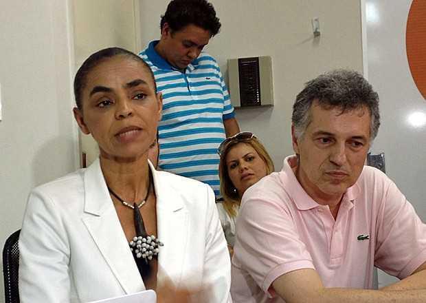 A ex-senadora Marina Silva falou sobre reforma ministerial durante a coletiva (Foto: Lucas Salomão/G1)
