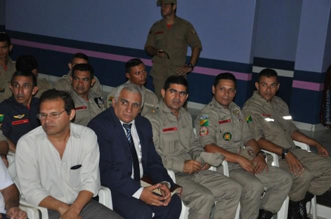 Alto Comando dos bombeiros do Acre estiveram presente no evento.