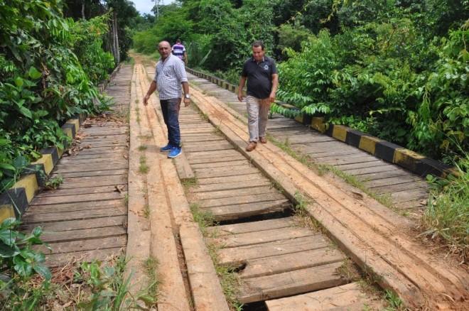 Ponte do ramal do km 59 irá receber novo assoalho - Foto: Assessoria