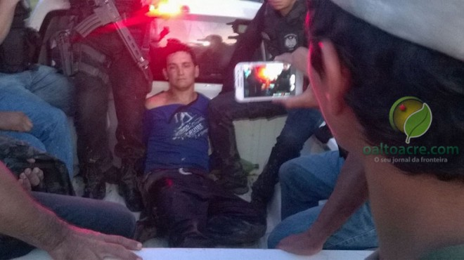 Dia em que o acusado de matar uma jovem de 15 anos e atirar no delegado foi  capturado - Foto: Arquivo