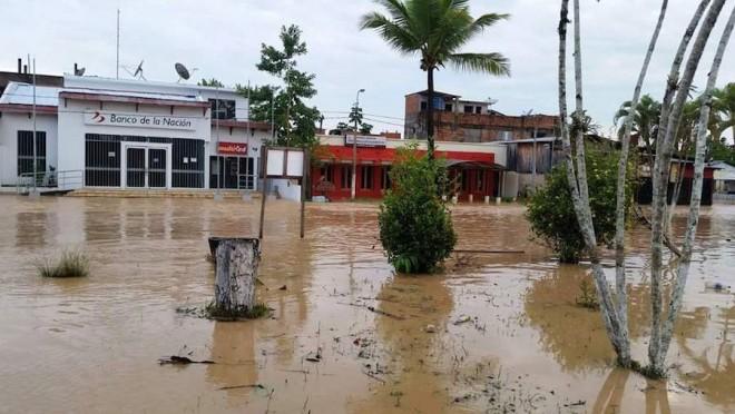 Centro comercial da cidade de Iñapari, lado peruano.