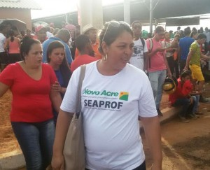 Seaprof era secretaria com o maior número de servidores na solenidade com Dilma/Foto: ContilNet Notícias