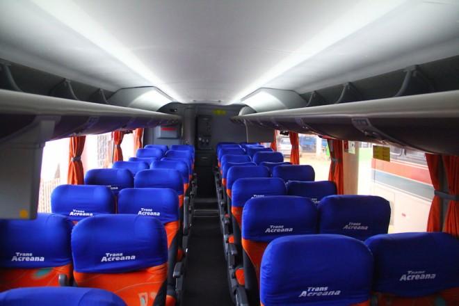 Conforto estão disponível aos passageiros...