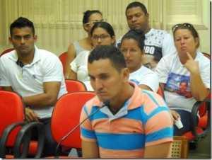 Elivan durante julgamento em Xapuri/Foto: Raimari Cardoso