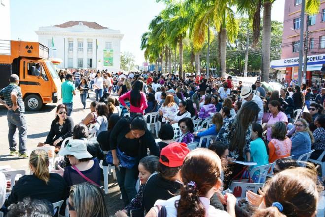 Servidores da educação devem se reunir novamente em frente ao Palácio Rio Branco na segunda/Foto: Selmo Melo/ContilNet