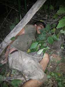Boliviano foi detido escondido dentro de um igapó após ser perseguido pela polícia.