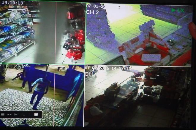 Ação dos meliantes foi gravada e gravação já está nas mãos da Polícia - Foto/reprodução