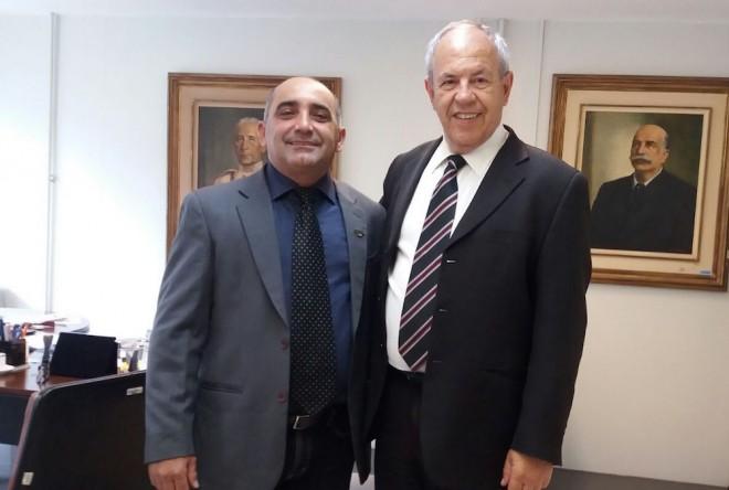 Everaldo com o gerente do Programa Calha Norte, o Brigadeiro Roberto de Medeiros Dantas - Foto: Assessoria