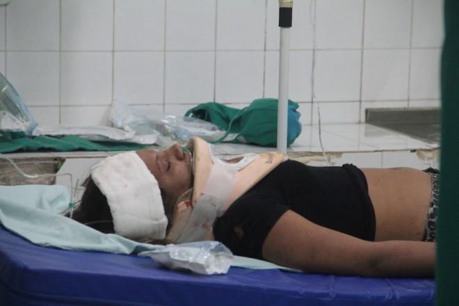 A jovem Ivonete ficou em estado grave e em coma. Foi necessário sua transferência para a Capital - Foto: Alexandre Lima