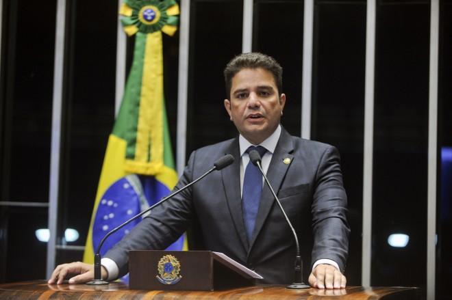 Plenário do Senado Federal durante sessão deliberativa ordinária.  Em discurso, senador Gladson Cameli (PP-AC).  Foto: Marcos Oliveira/Agência Senado