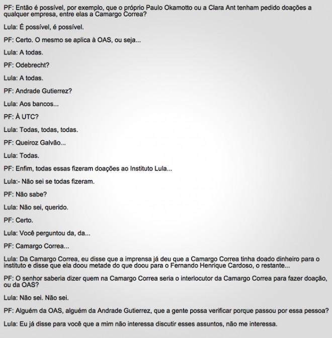 Lula interrompeu o interrogatório para ir tomar café e chegou a bater com os papéis à mesa de acordo com relatos de agentes que participaram do depoimento. (*enviado especial) Leia mais sobre esse assunto em http://oglobo.globo.com/brasil/lula-diz-que-diretores-de-seu-instituto-podem-ter-pedido-doacoes-empresas-investigadas-pela-lava-jato-18870433#ixzz42tBKAP9T © 1996 - 2016. Todos direitos reservados a Infoglobo Comunicação e Participações S.A. Este material não pode ser publicado, transmitido por broadcast, reescrito ou redistribuído sem autorização.