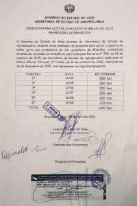 Acordo firmado e registrado na Capital.