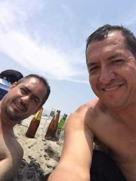 """Gilberto """"Gordo"""" (esquerda) chegou a se hospedar na casa de Nilo no Peru - Foto: arquivo familiar"""