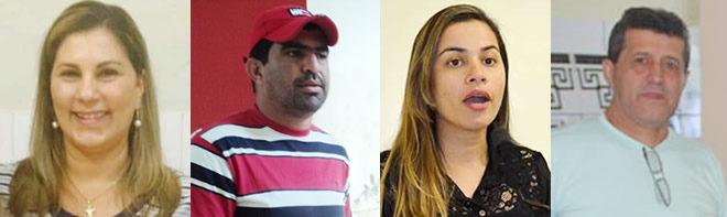 Ex-secretários: Maria Auxiliadora, Jeffison Saturnino, Fernanda Hassem e Antonio F. Viana. Restante anunciados não foram imagens via internet.