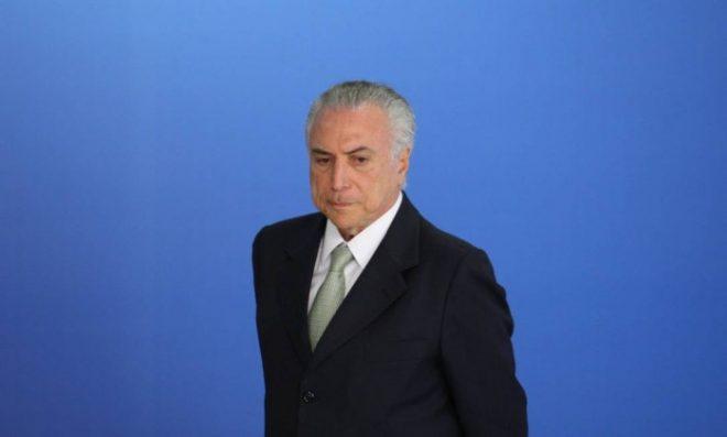 O presidente interino Michel Temer - André Coelho / Agência O Globo