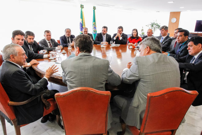 Reunião bancada federal Acre e Rondônia com Temer