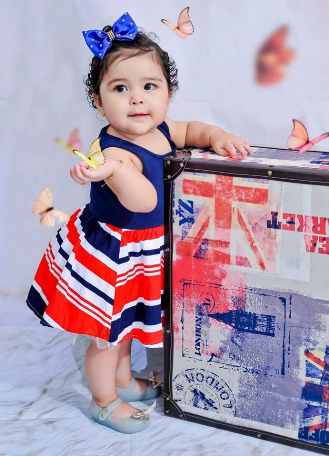 Carolina Velarde, 1 ano e 2 meses
