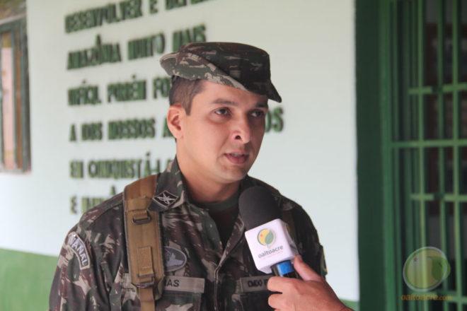 Capitão Andeson Veras, estará à frente da Companhia Especial de Fronteira em Epitaciolândia, Acre - Foto: Alexandre Lima