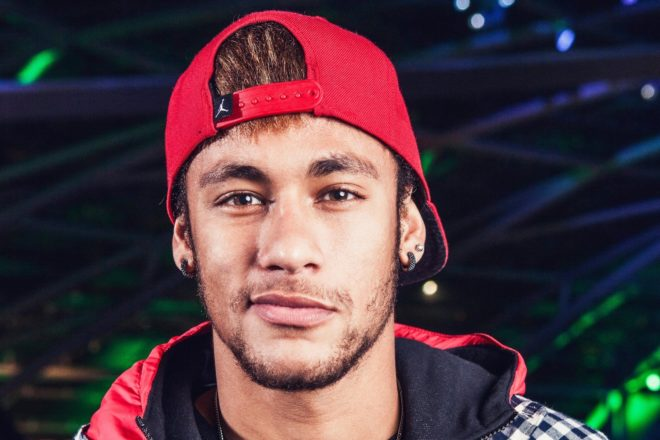 Neymar poses for a portrait at Hangar 7 in Salzburg, Austria on December 2nd, 2013