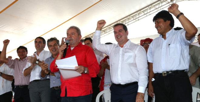 Em maio de 2015, o complexo recebeu presidente da Bolívia, Evo Morales, do ex-presidente do Brasil Luis Inácio Lula da Silva, senadores e políticos do Acre e do Brasil no complexo - Foto: Agência Acre