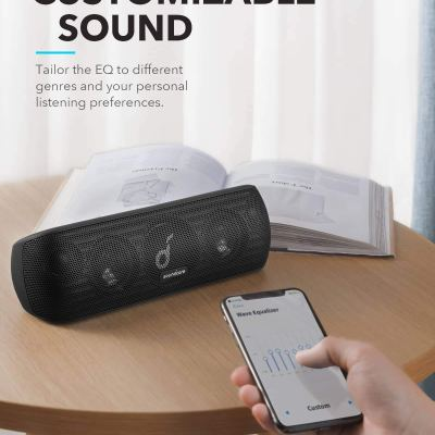 Anker Soundcore Motion+ Bluetooth Speaker with Hi-Res 30W Audio with 12-Hour Playtime, IPX7 Waterproof, and USB-C