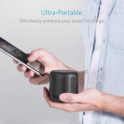 Anker SoundCore mini Bluetooth Speakers with 15-Hour Playtime, FM Radio