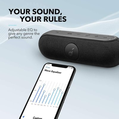 Anker 20W SoundCore Icon+ Waterproof Speaker with 12-Hour Playtime – Black