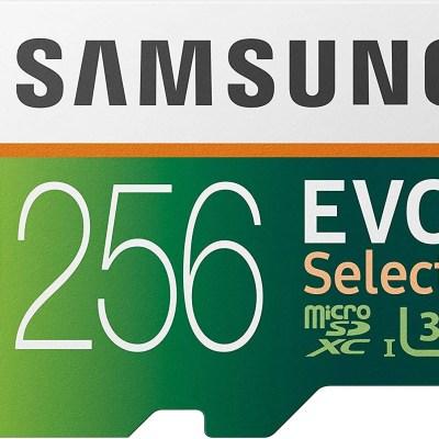 Samsung Electronics EVO Select 256GB microSDXC UHS-I U3 100MB/s Full HD & 4K UHD Memory Card with Adapter