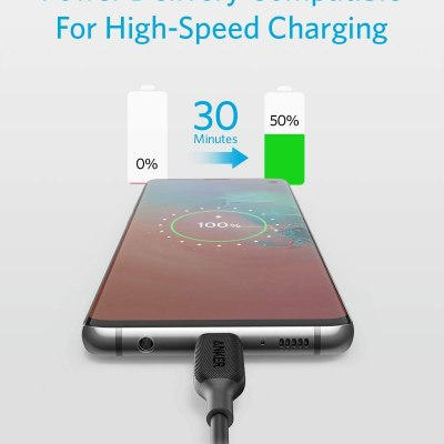 Anker Powerline III USB-C to USB-C 60W Power Delivery Cable (6ft) Black