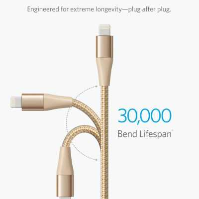 Anker PowerLine+ II Lightning Cable 3FT Golden