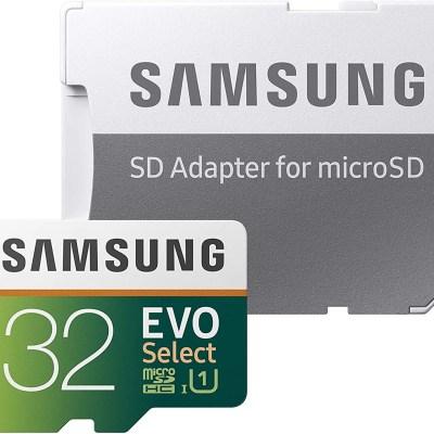 Samsung 32GB 95MB/s (U1) microSDHC EVO Select Memory Card