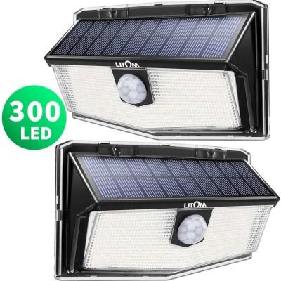 LITOM 300 LED Solar Motion Sensor Lights