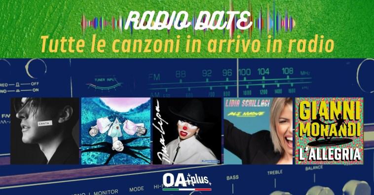 RADIO DATE dell'11 giugno. Giovanni Caccamo, BowLand, Dua Lipa, Lidia Schillaci, Gianni Morandi
