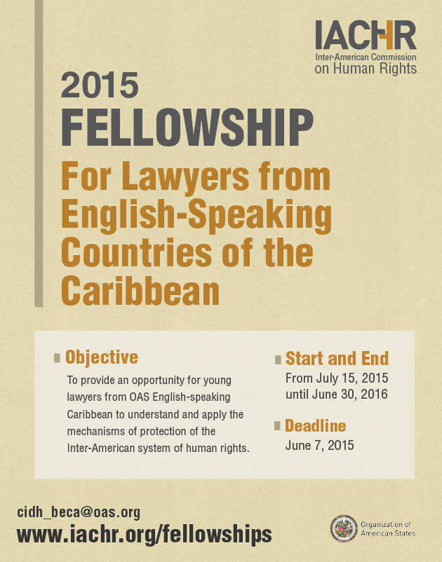 Fellowship for Lawyers from English-Speaking Countries of the Caribbean