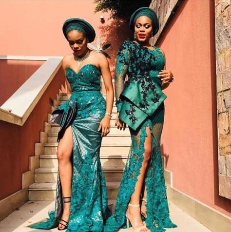 Nigerian fashion and style aso ebi gown trend