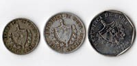 Cuba - 3 monete Pesos