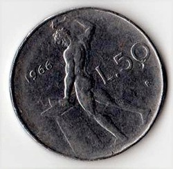 Italia 50 lire - 1966