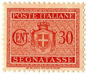 Segnatasse 30 centesimi 1945