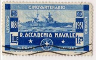 50º anniversario della regia accademia navale di Livorno, 1,25 Lire, 1931